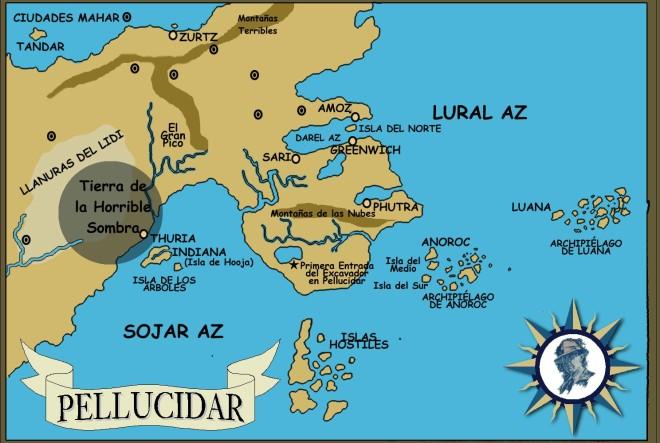 Mapa de Pellucidar