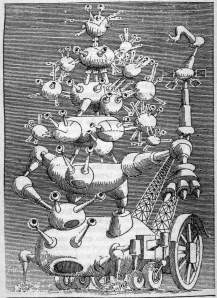 Uno de los dibujos de  Daniel Mróz para la Ciberiada