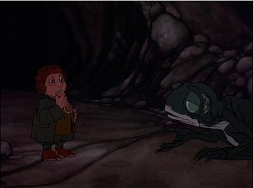 Bilbo y Gollum