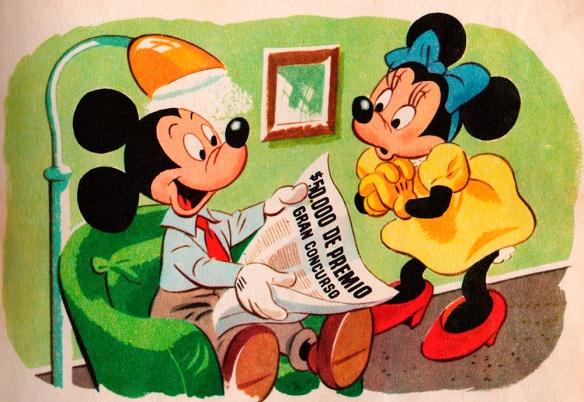 Miguelito lee el periódico