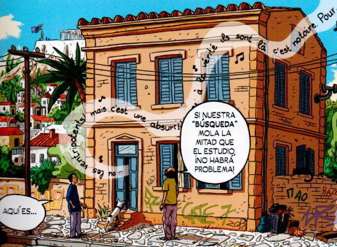 El estudio ateniense donde se creó Logicómix