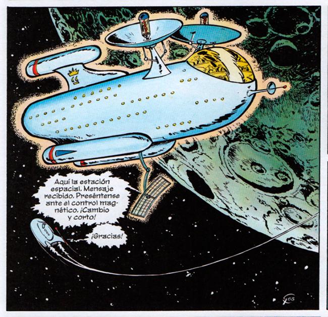 La obra de Gos está plagada de magníficas naves espaciales